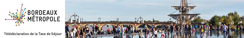 Déclaration de la taxe de séjour Bordeaux Métropole